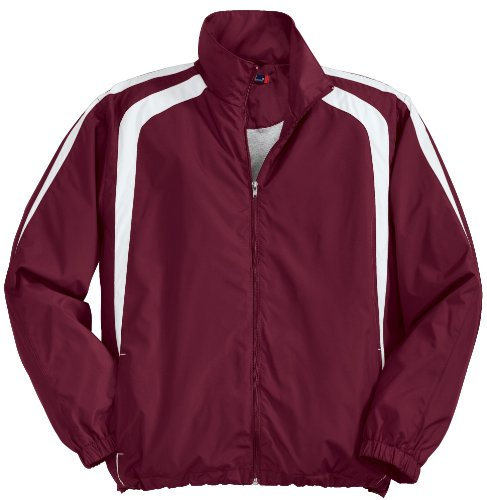 Sport-Tek Veste Colorblock Men's T-Shirt rouge - Grenat/blanc