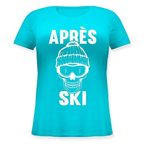 Après Ski - Après-Ski Totenkopf - M (46) - Hellblau - JHK601 - Lockeres Damen-Shirt...
