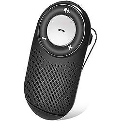 (français) Kit Mains Libres pour Voiture Multipoint Haut-parleurs de Bluetooth kit sans Fil (Allumage Automatique) avec Siri et Google Assistant Support du GPS, Musique, Smartphones iPhone Android