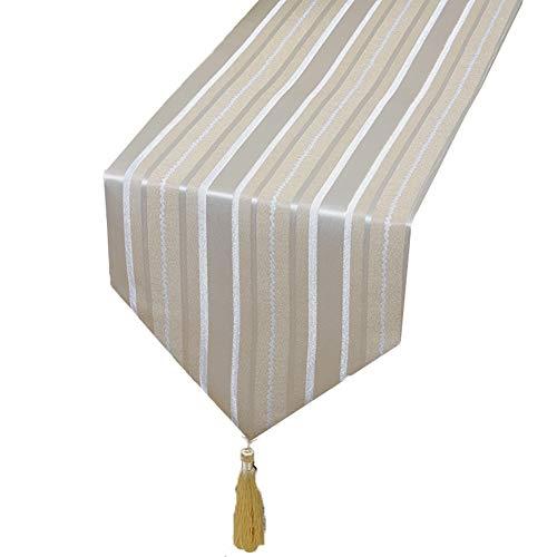 Chemin de table Chemin de table rayé, nappe de fournitures de mariage d'anniversaire pour la literie d'hôtel de tapis de table basse de famille (taille : 33×300cm)