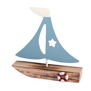 Rayher Hobby 46164000 Deko-Segelboot, Sortiert, 10,5x11x2,5cm