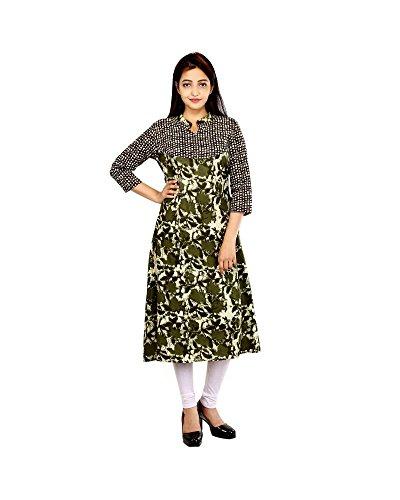 Masadh Fashion Women's Cotton Kurti(Masadh003_Medium_Multicolour)