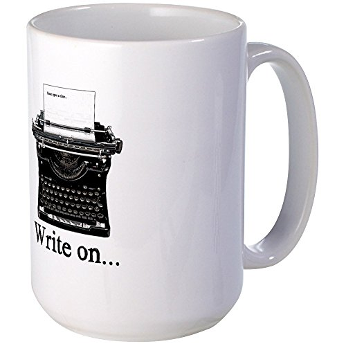 CafePress – Write On Mugs – Kaffeebecher, groß, 425 ml Kaffeetasse, Weiß Large weiß