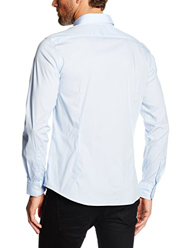Celio - Camicia formale, Uomo Blu (Light Blue 01)