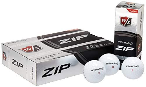WILSON Reißverschluss Doppelt Dutzend Golfbälle, 24Stück (weiß) -