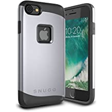 Snugg iPhone 7 Dual Layer Slim Back Cover Infinity Case for Apple iPhone 7 - Grey
