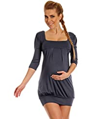 Happy Mama. Femme maternité jolie robe ballon de grossesse manches 3/4. 993p