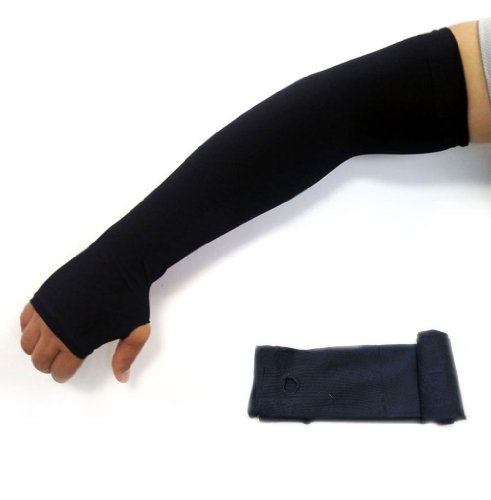 uv-protection-hand-cover-arm-sleeves-sports-driving-golf-cooling-cool-cover-sun-1pair-black