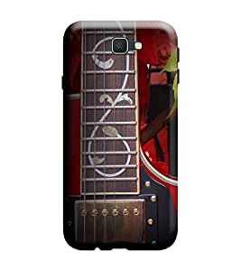 Samsung Galaxy A7-6 (2016 Model) Back Cover Designer 3d printed Hard Case Cover for Samsung A7 2016 Edition (A7 6 Model) by Gismo - Guitar Red Theme