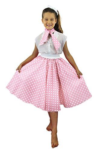 ILOVEFANCYDRESS I Love Fancy Dress ilfd7077Kinder Kostüme mit Lang Polka Dot Rock (One Size)