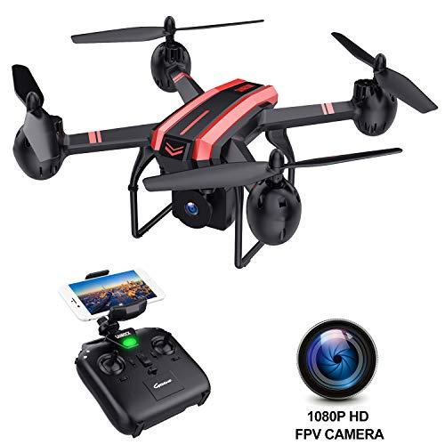 SANROCK X105W Groß Drohnen mit Kamera für Kinder, 1080P HD WiFi Echtzeit Video Feed. Lange Flugzeit 17 Minuten, Höhenlage halten, Schwerkraftsensor, Route gemacht, tolle Geschenke für Jungen