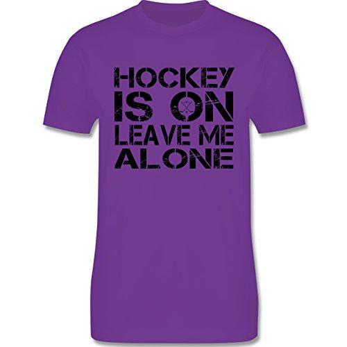 Eishockey - Hockey Is On - Herren Premium T-Shirt Lila