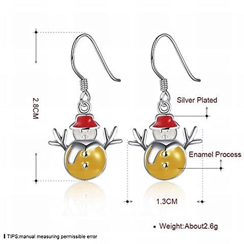 Weihnachten Thema - Blaue Schneemann Ohrringe Ohrringe Ohrringe / Frauen