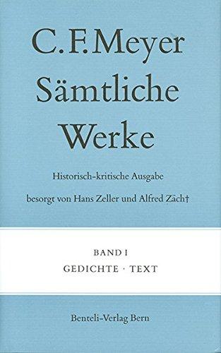 Gedichte: Text (Sämtliche Werke. Historisch-kritische Ausgabe)