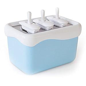 Eismaschine Eismaker Stieleisformen Gefrierbehälter Popsicle Maker - blitzschnell Eis am Stiel