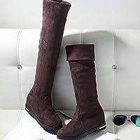 AIMENGA Damenschuhe Wildlederstiefel Knight Boots Overknee Stiefel Lange  Röhre Hohe Röhre Dicker Boden Herbst Und Winter d95f2e8eeb