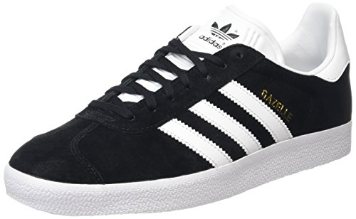 Adidas Gazelle - Scarpe Sportive Outdoor Uomo, Nero (Core Black/White/Gold Met), 43 1/3 EU