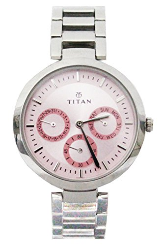 Titan Youth Analog Pink Dial Women's Watch -NK2480SM05 2