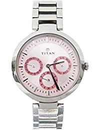 Titan Youth Analog Pink Dial Women's Watch-NK2480SM05