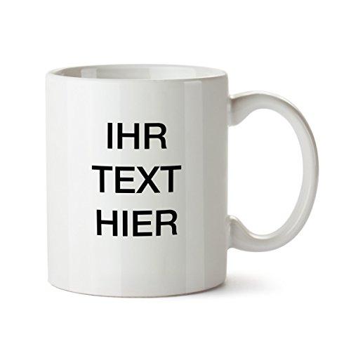 """Partycards Personalisierter Kaffeebecher Weiß Motiv """"Ihr Text"""" Spruch Individuelle Text..."""