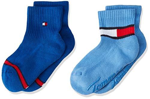 Tommy Hilfiger Tommy Hilfiger Unisex Baby TH BABY HERITAGE ABS SOCK 2P Socken, 2per pack Blau (blue combo 168), 15-18 (Herstellergröße: 15-18)