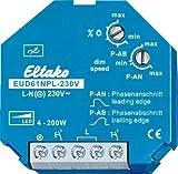 Eltako Universal-Dimmschalter ohne N-Anschluss speziell für LED, 1 Stück, EUD61NPL-230V