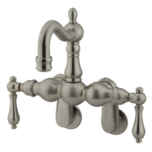 Kingston Brass CC1081T8 Heritage 3-3/8-Inch to 9-Inch Center Leg Tub Filler, Satin Nickel by Kingston Brass -