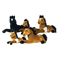 "Plush Large 13"" Horse Soft Toy Cuddly in 3 assorted Colours soft toy"