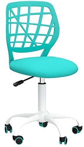 Bürostuhl Fanilife Drehstuhl Schreibtischstuhl Bürostuhl Kinder Arbeitsstuhl höhenverstellbar, gepolsterte Sitzflaeche aus Netz, türkistürkis
