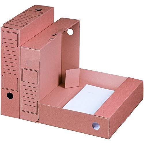 20x Archiv-Ablagebox braun 265 x 75 x 324 mm