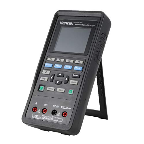 Hantek 2D72 Multímetros Digitales Osciloscopio 3 en 1 de 70 MHz de Ancho de Banda de Interfaz USB Multitester portátil Inteligente (Negro)