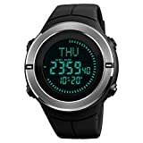 Reloj Hombre Digital,Reloj Deportivo Digital para Hombre con brújula para Deportes al Aire Libre para Hombres Alarma cronómetro avalado Impermeable …