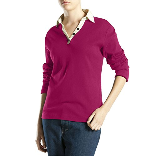Damen Johnny Kragen Shirt, Rasberry, Xtra Small -