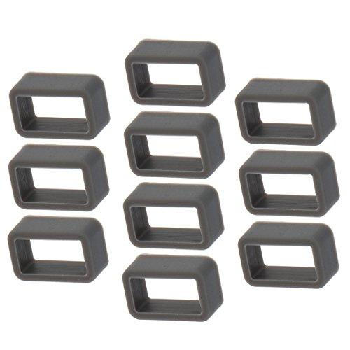 Sharplace 10 Stücke Ersatz Gummi 12mm Uhrenarmband Schlaufe Gummihalter für Uhrenarmbänder - Dunkelgrau - 12mm Uhrenarmband Gummi