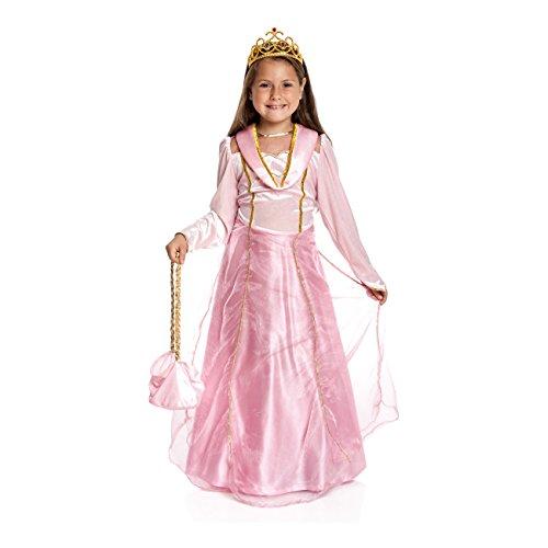 Kostüme Rosa Prinzessin Mädchen Kleine (Kostümplanet® Prinzessin-Kostüm Mädchen rosa Krone Prinzessinen-kostüm Kind Kinder-Kostüm Größe)