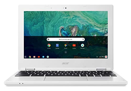 "Acer Chromebook CB3-132-C4Y6 Ordinateur portable 11, 6"" HD Blanc (Intel Celeron, 4 Go de RAM, 32 Go eMMC, Intel HD Graphics, Chrome OS)"