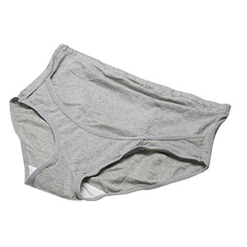 La Cabina Culotte Enceinte Respirant Culotte de Grossesse Confortable en Coton Gris