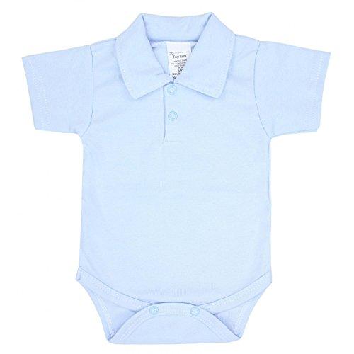 TupTam Baby Jungen Hemdbody Kurzarm, Farbe: Hellblau, Größe: 74