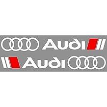 2x Audi Sport Sticker Decal Aufkleber 58x7.5cm Die Cut Side Decor Sport R8 TT A1 A3 A8 Q5 Q7 RS Auto Car Racing