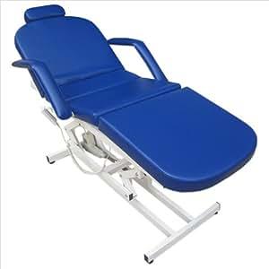 11936 Elektrische Behandlungsliege Therapieliege Massageliege Ruheraumliege in blau