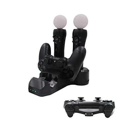 iBetter Sony PlayStation VR - PlayStation 4, PSVR Schaukasten Rapid AC PS4 VR Charge Displayständer mit 2Move Controller Chargers + 2 Ladestationen + LED Ladeanzeige für Sony PlayStation VR - PlayStation 4 (GamePad nicht enthalten)