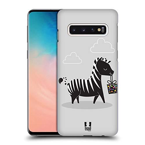 Head Case Designs Gift Giver Zebra Party Tiere Harte Rueckseiten Huelle kompatibel mit Samsung Galaxy S10 -