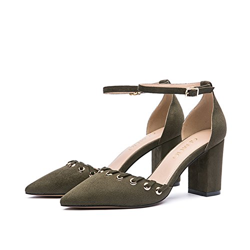 Flacher mund zeigte mit den schuhen/Ein wort wölbung sexy high heels B