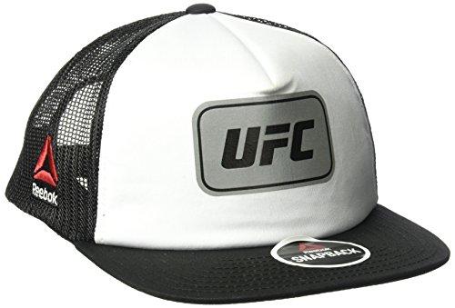 Reebok Unisex flach Krempe Mesh Back Hat, unisex, Flat Brim Mesh Back hat, weiß (Meisterschaft Mesh)