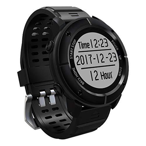 WSWJJXB Outdoor-Sport-Uhr läuft Radfahren Bergsteigen Golf Walking-Smart-Multifunktionsuhr (Farbe : SCHWARZ)