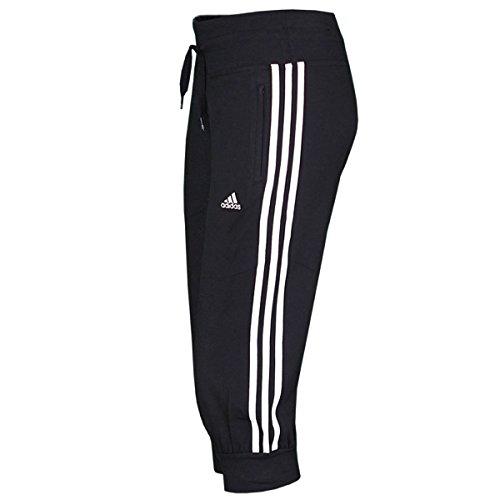 adidas Damen Trainingshose 3/4 Essentials 3-Stripes, black/white, 42