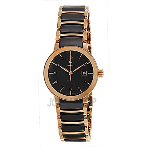 Rado Rado Centrix Automatic Rose Gold Tone and Black Ceramic Ladies 'Watch R30954152