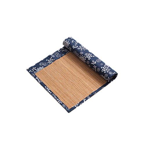 Tischläufer Tee Tischläufer Teezeremonie handgefertigte natürliche Bambus Sticks Tischset Dekor Kung Fu Tee Set Slat Matte Tischset Tee Tischläufer Haus Dekoration ( Color : B , Size : 30*150CM ) (Die Maschine Bambus-sticks)