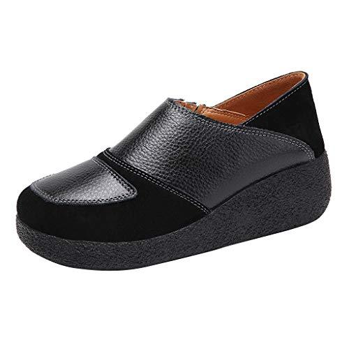 Luckycat Zapatos Mocasines Cómodos para Mujer Calzado de Trabajo Antideslizante Loafers Zapatillas...