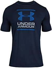 Under Armour GL Foundation T - Camiseta de Manga Corta para Hombre, Hombre, 1326849-408, Academy/Steel/Royal, Large